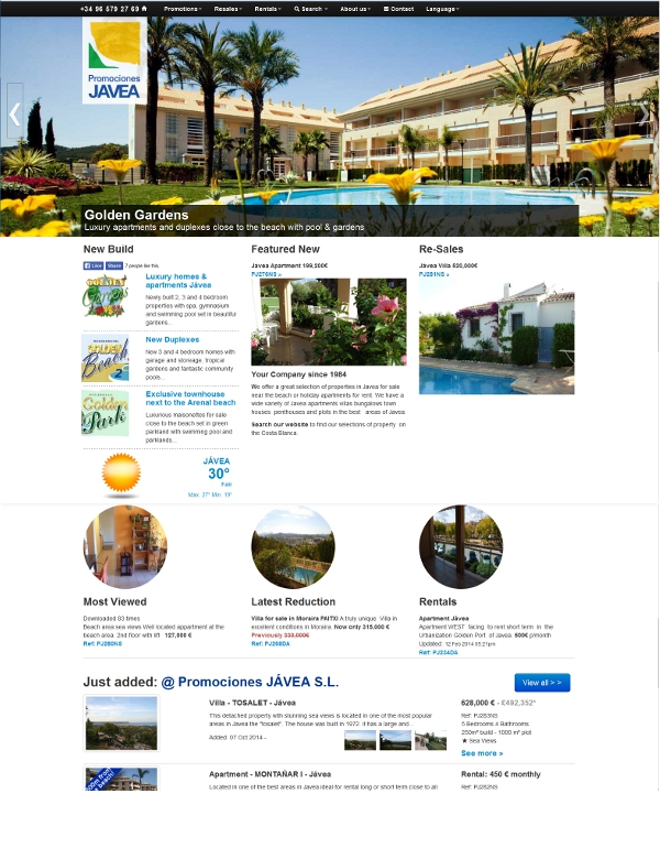 reponsive web design for promocionesjavea.com