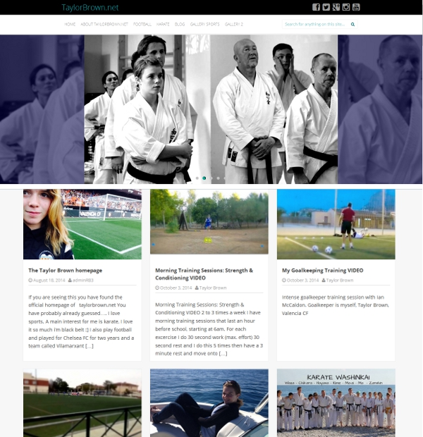 TaylorBrown.net was created to promote excellence in sport.