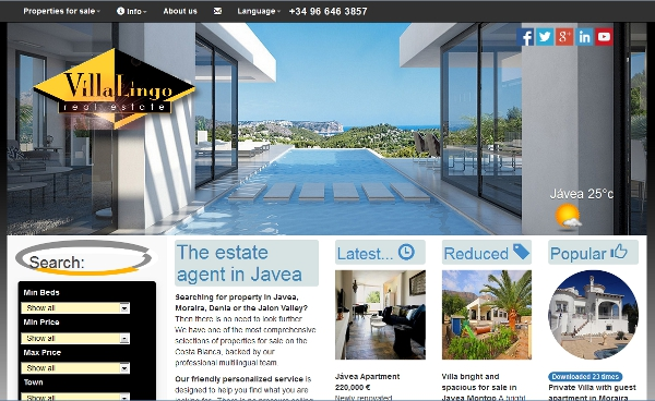 A responsive website for Villa Lingo